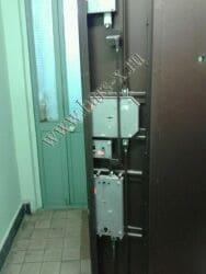 замена замков вкладного в железной двери с разбором