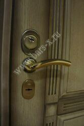 установка врезной брони назамок железная дверь