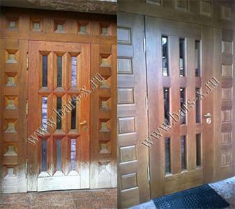 ремонт уличной железной двери после
