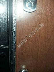 врезка ночного засова в железную дверь до