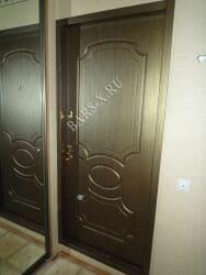 утановка замка установка панели на квартирную дверь