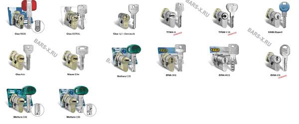 Cisa RS3S; Cisa Astral; Cisa C1; Cisa Asix; Mauer Elite; Mottura C48; Mottura C38; Mottura C28;