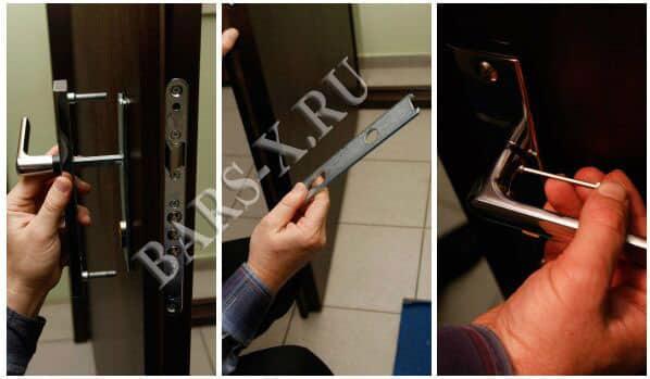смена замка металлической двери фото