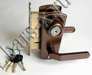замена дискового замка в железной двери