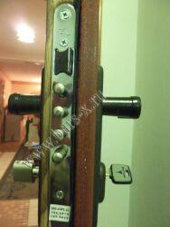 замена замка SL в железной двери